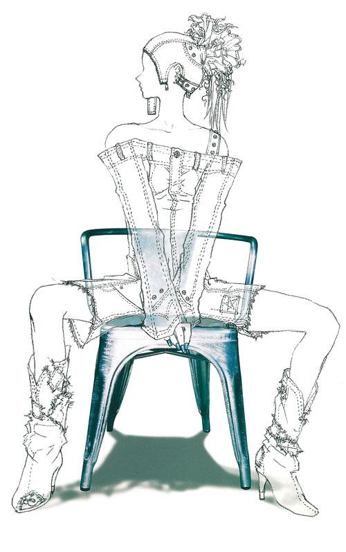 椅子三视图手绘美术